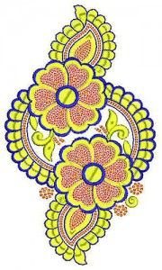 Fully Overlap Sequins Applique Patch Embroidery Design