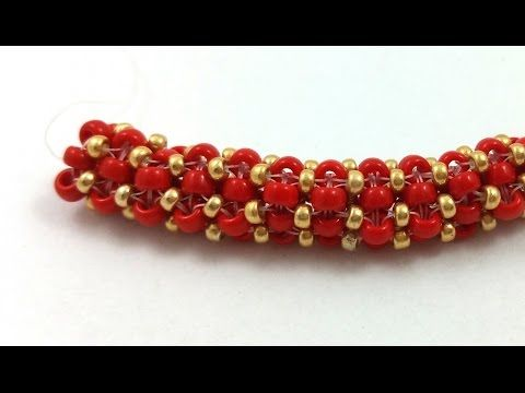 Beading4perfectionists: Prismatic Right Angle Weave (PRAW) stitch  ~ Seed Bead Tutorials