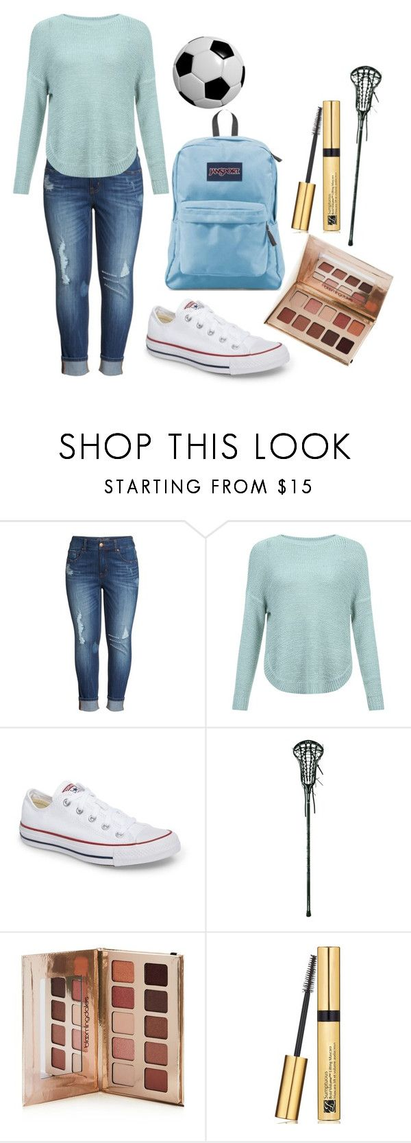 """JENNA"" by kayla-demodna on Polyvore featuring Melissa McCarthy Seven7, JDY, Converse, Under Armour, Bloomingdale's, Estée Lauder and JanSport"