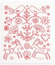 The Tradition Dish Cloth designed by Bengt & Lotta Sweden, perfect for festive washing up!