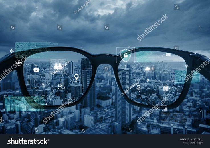 #virtualrealityvrsmart #technology #augmented #hologram #graphic #glasses #looking #reality # ...