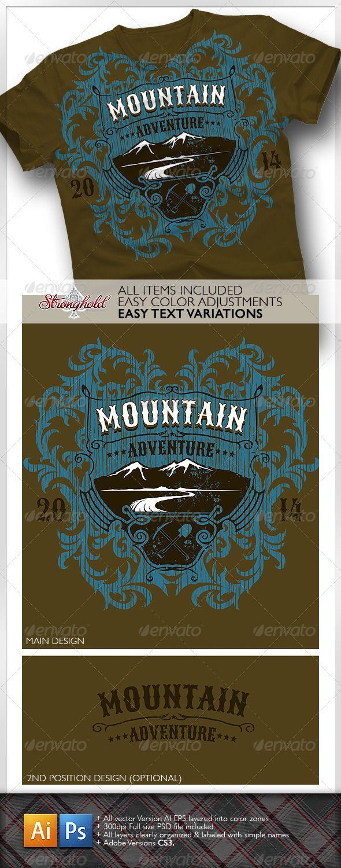 Shirt design jquery - Mountain Adventure T Shirt Event Template