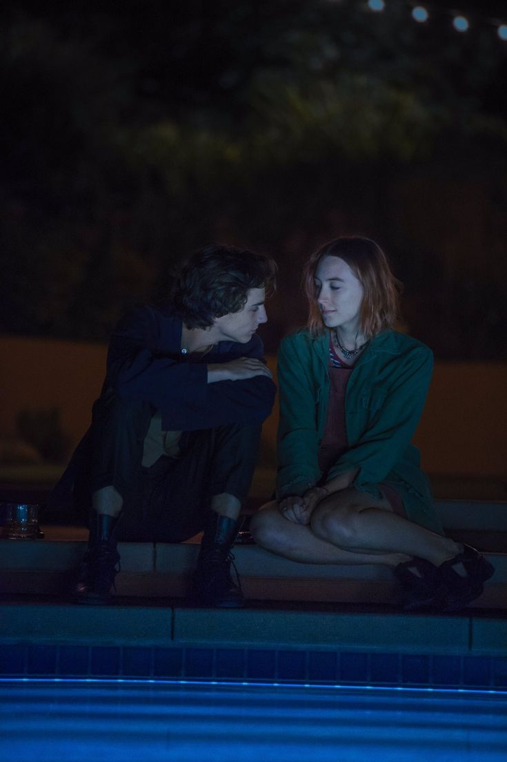 "chalametdaily:  """"Timothée Chalamet + Saoirse Ronan   Lady Bird (2017)  "" """