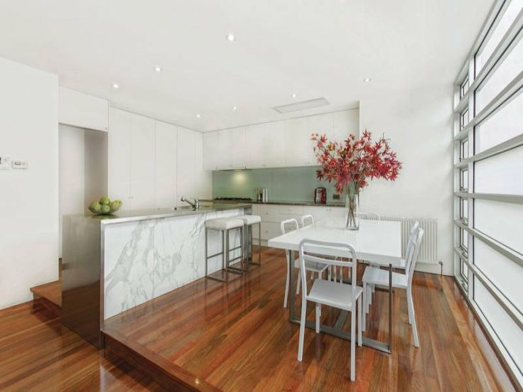 Grange Rd ,Toorak #townhouse #kitchen #dining