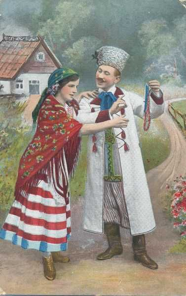 Old Polish folk illustration