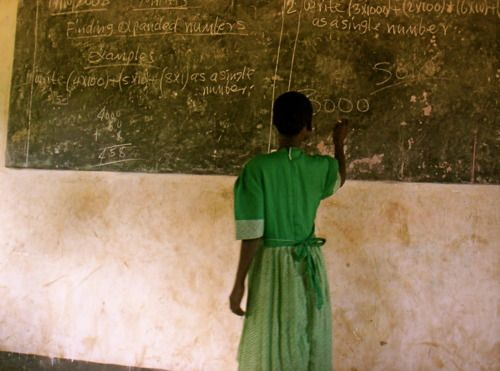 Girl learning math in Sudan: South Sudan, Camera, Posts, Photo