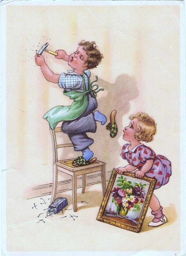 Святая, открытки немецкие с детьми