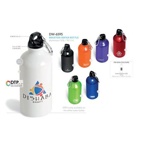 Braxton Aluminium Water Bottle   Corporate Gifts by inMotion Promotions