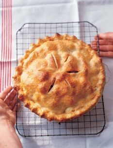 This is the best apple pie.  Make sure you have a deep dish pie pan for this beauty.  The orange makes a big difference in brightening the flavors.