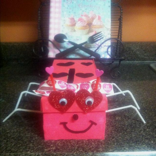 Lady Bug Valentine's box