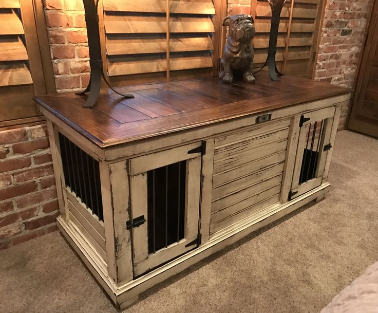 dog crates furniture style. double distressed painted dog kennel sherwin williams antique white interior crates furniture style