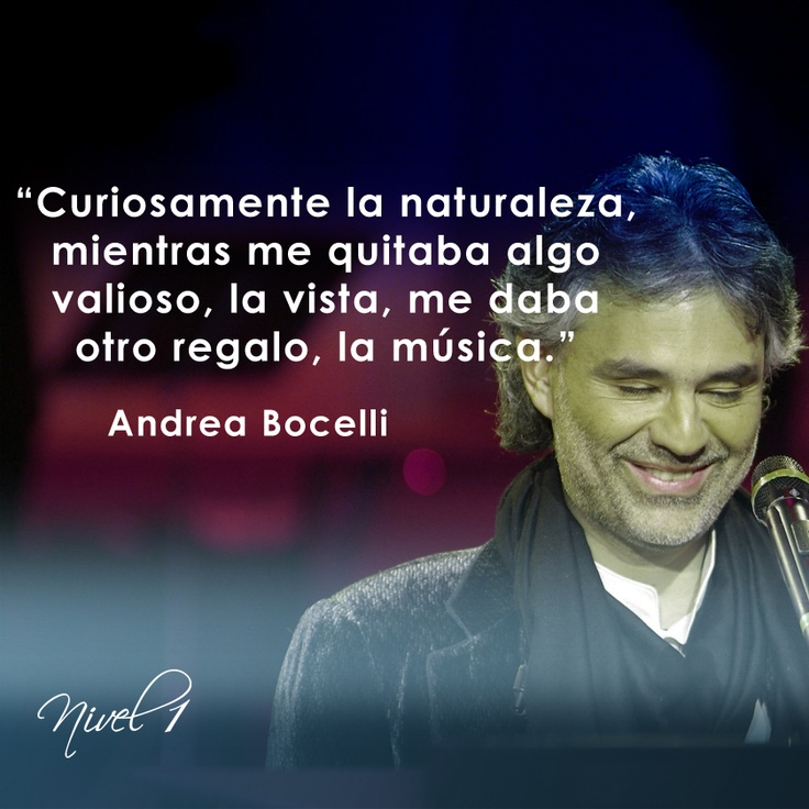 Andrea Bocelli quote | Music, Books, TV, Movies, and ...
