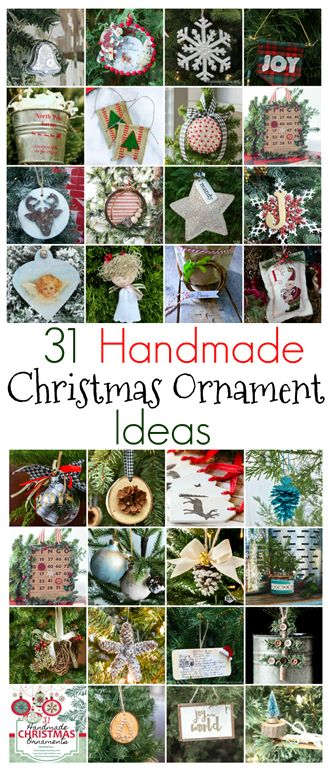 31 Handmade Christmas Ornament Ideas - Get 31 Ideas for Ornaments to Make for Your Christmas Tree. virginiasweetpea.com