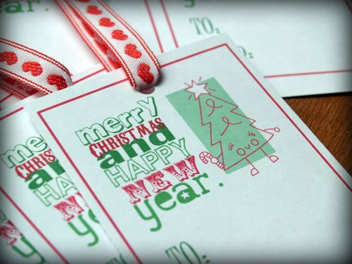 FREE Printable Baking Labels and Gift Tags for Christmas with Gingerbread and Trees