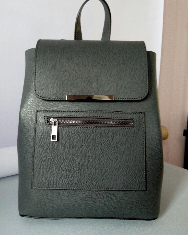 Серый кожаный итальянский рюкзак женский V. Conti в наличии 2610 грн      Интернет магазин Семь Сумок 7bags.com.ua