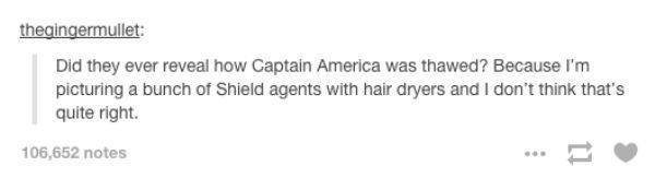 How Captain America was thawed