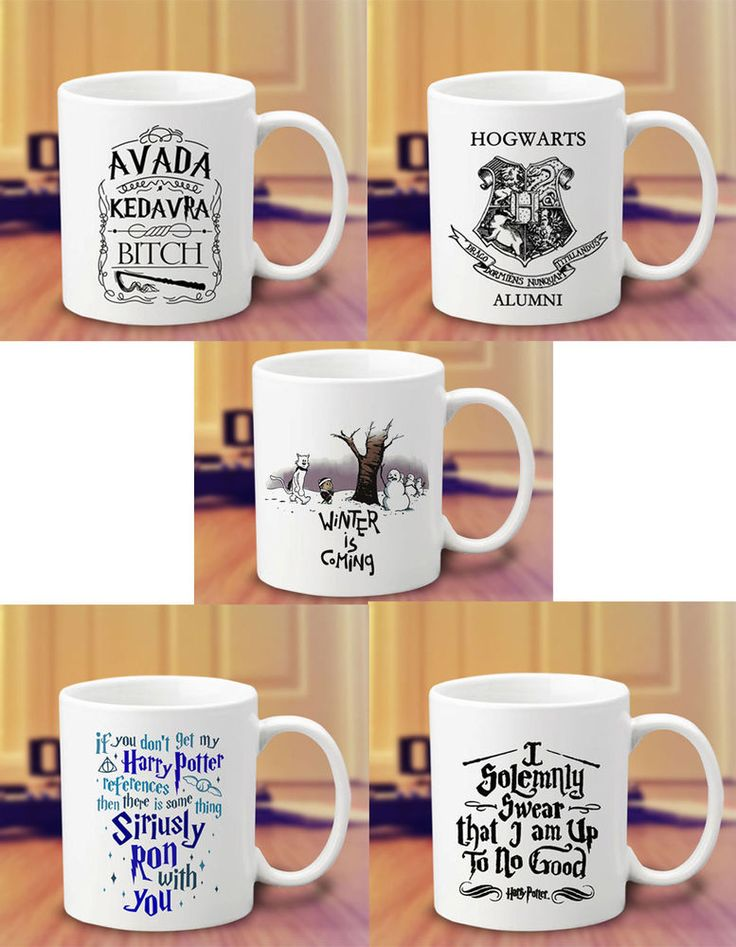 Harry Potter Avada Kedavra Hogwarts I solemnly Swear Winter is Coming Coffee Mug #Handmade   #mug #mugs #custom #cup #coffee #tea #hot #harry #potter #spell #quote #mom #sister #couple #gift #band #magcon #5sos #twin #peaks