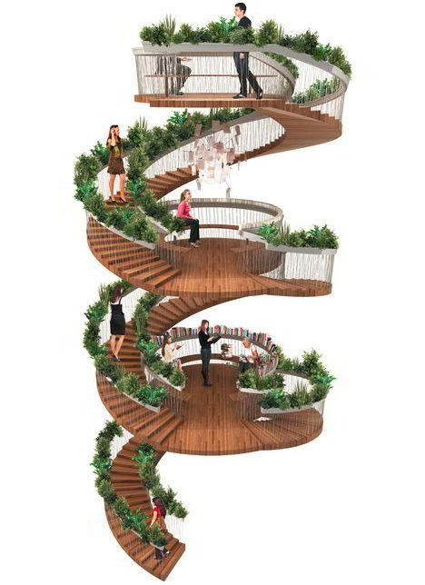 25 melhores ideias de escadas em espiral no pinterest. Black Bedroom Furniture Sets. Home Design Ideas