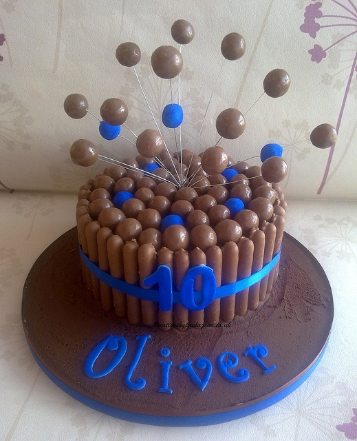 Blue Malteser Cake by Creations By Paula Jane, via Flickr