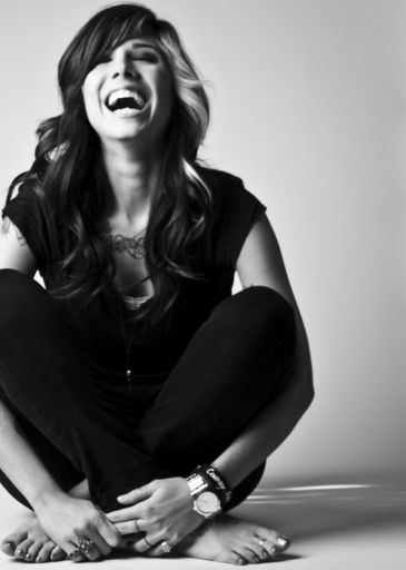 Christina Perri. Her smile makes me smile. Which is priceless