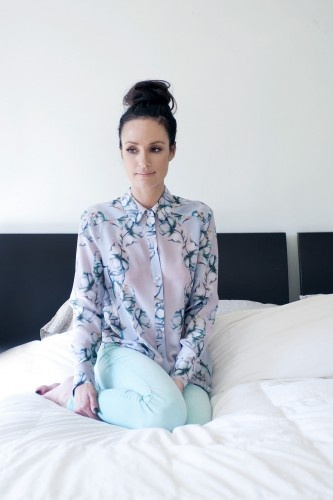Perfect Top Knot on Catt Sadler for her Refinery29 feature