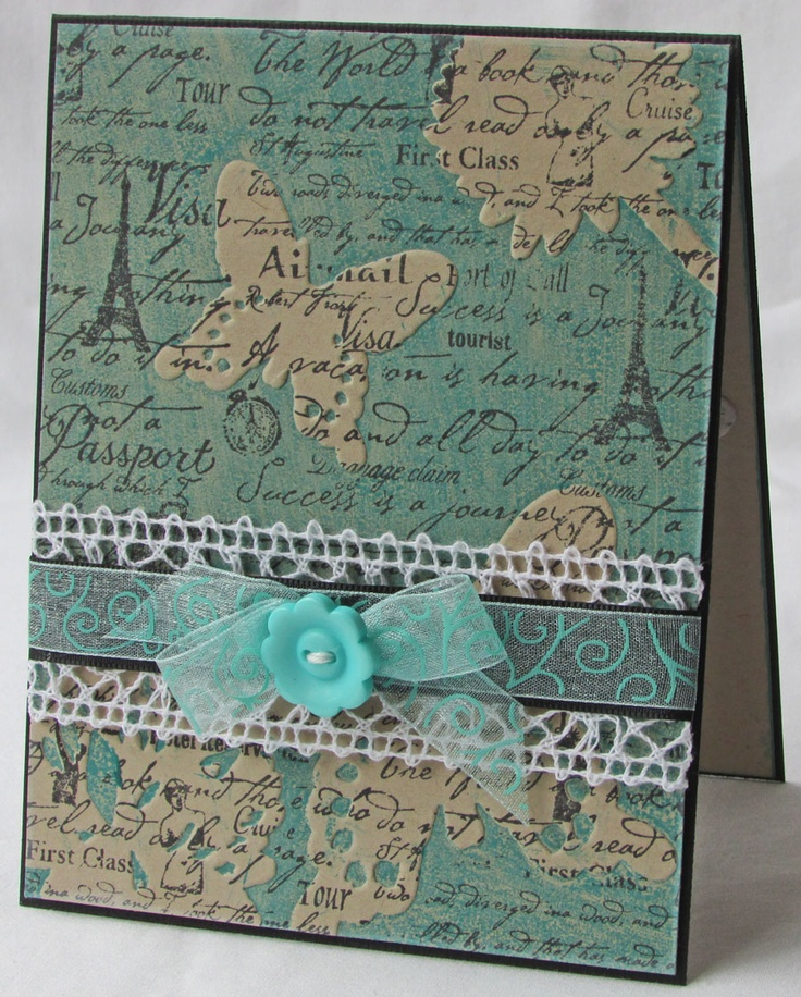 Couture Creations: Couture Creations | Dream Boat Collection | Card | Butterfly Notes | 3 in 1 Stamping Embossing & Die Cutting