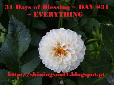 ShiningSoul: Day #31 ~ 31 Days of Blessing: EVERYTHING /  Dia #...