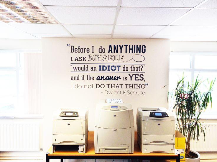 89 best branding wall images on pinterest office for Office branding ideas