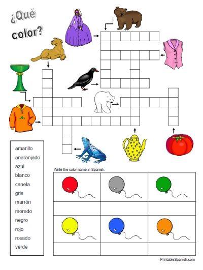 ... colors colors worksheets crucigrama colors kids s colors 11 colors