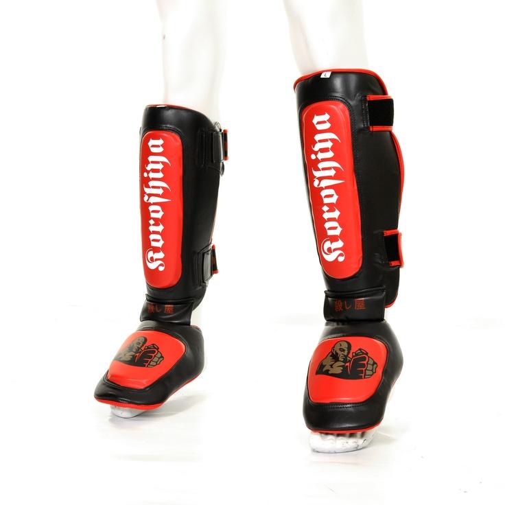 Koroshiya MMA shin instep guards at www.sidekickboxing.co.uk