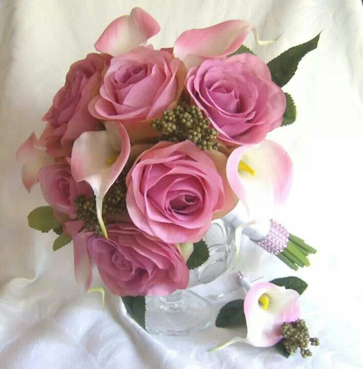 13 best Roses and Calla Lily Wedding Flowers images on Pinterest ...