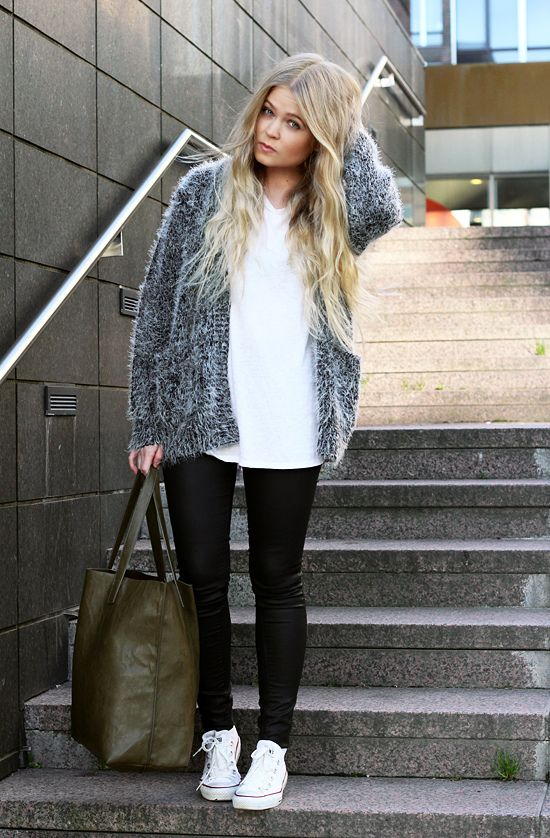 Way to afraid to ever purchase anything like this sweater, but I love it with the pants and chucks