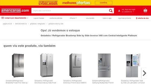 [Americanas.com] Geladeira / Refrigerador Brastemp Side by Side Inverse 540l com Central Inteligente Platinum - de R$ 5.310,92 por R$…