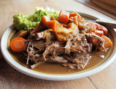 Slow Cooked Brisket of Beef with a Medley of Root Vegetables ~ Slow Sunday