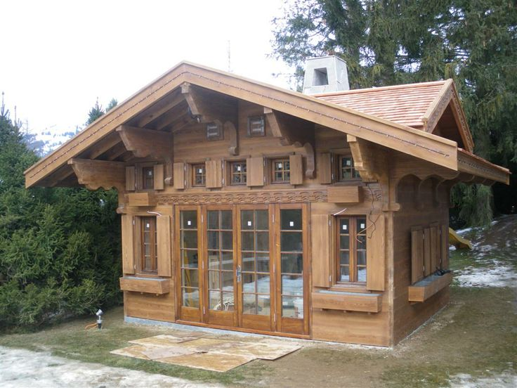 40 best houses bldgs images on pinterest cottages for Swiss chalet plans