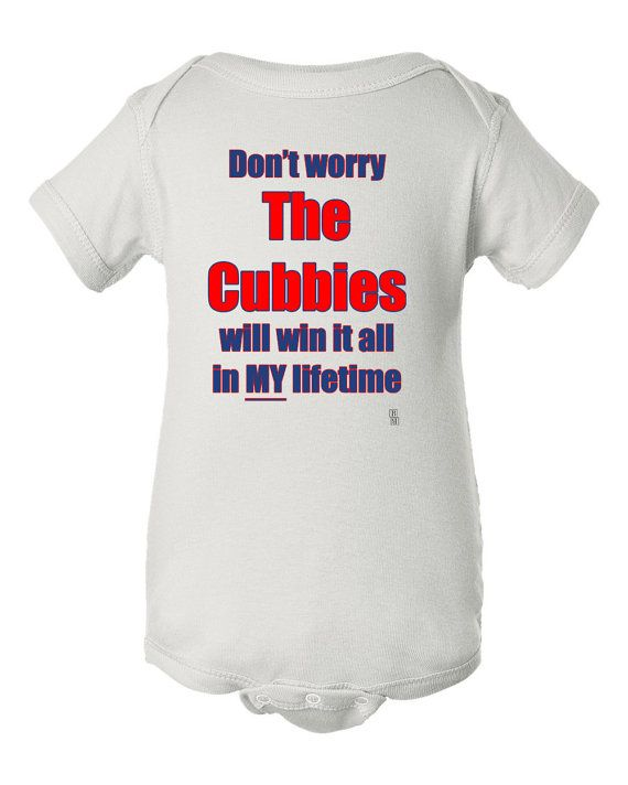 Chicago Cubs Funny Baby Bodysuit, Cubbies Baby Clothes, Cubs Win World Series  Bodysuit Shirt, Funny Cubs Bodysuit