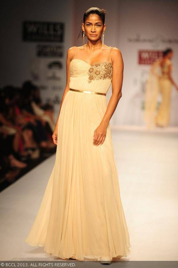 Gown by Rabani and Rakha at Wills Lifestyle India Fashion Week (WIFW) Spring/Summer 2014