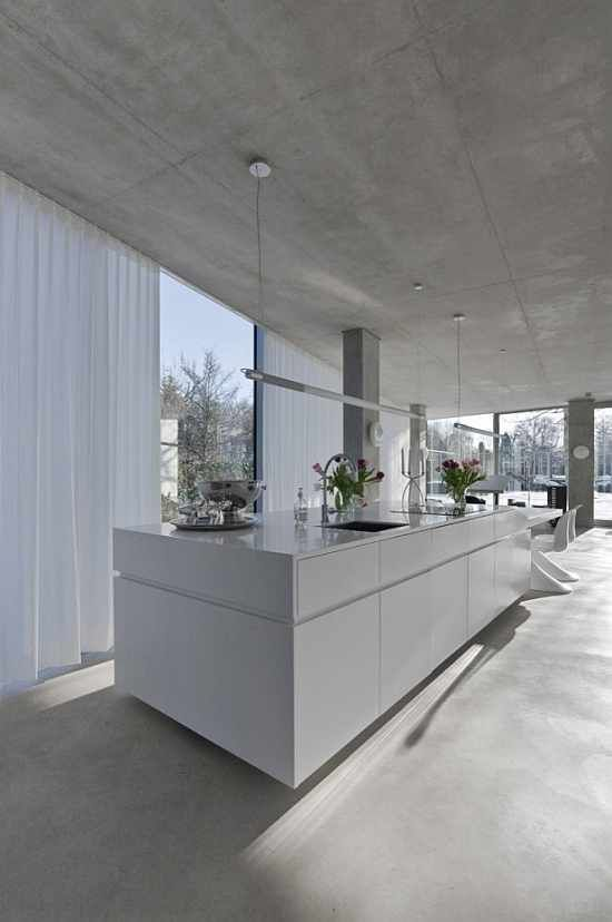 Kitchen inside the H House by Wiel Arets Architects.