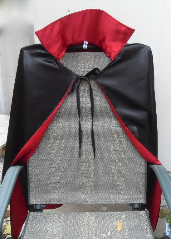 Child Size High Collar Dracula/Vampire cape of black by BabyDerby, $32.00