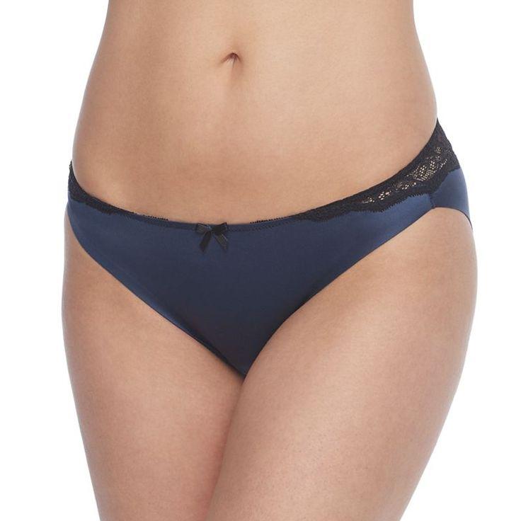 Maidenform Comfort Devotion Lace Bikini Panty 40046, Blue (Navy)