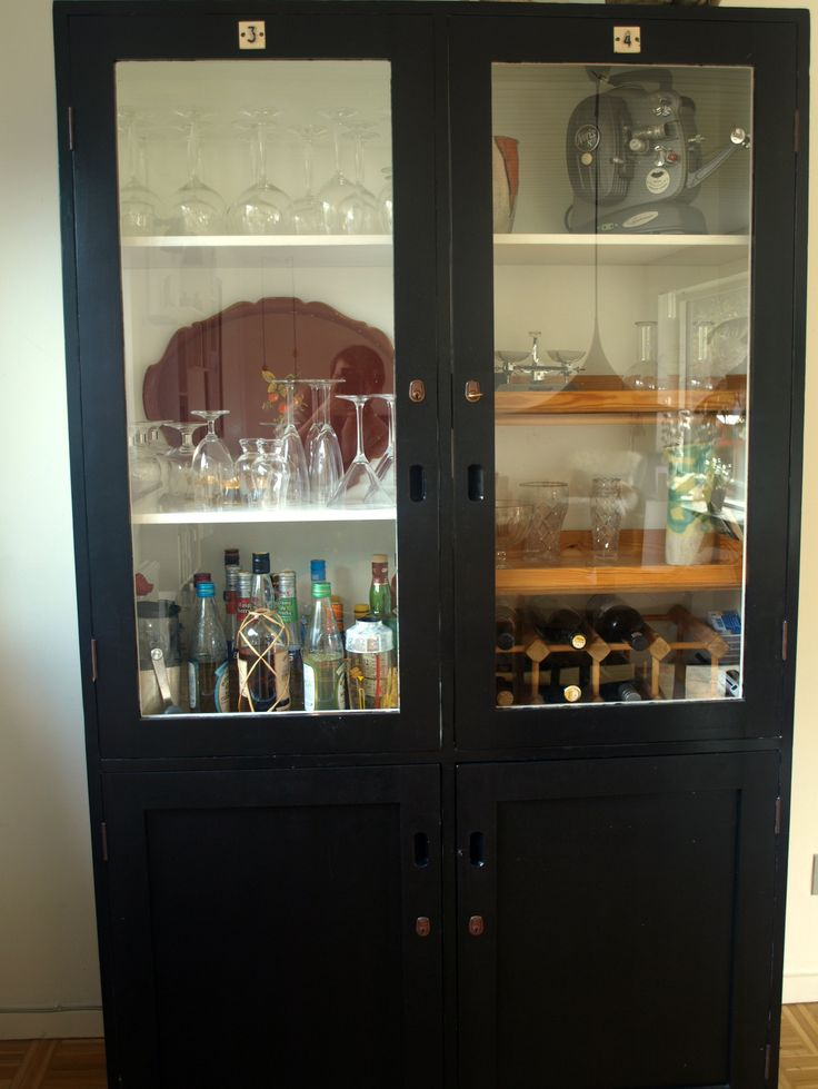 Old school cabinet - painted black
