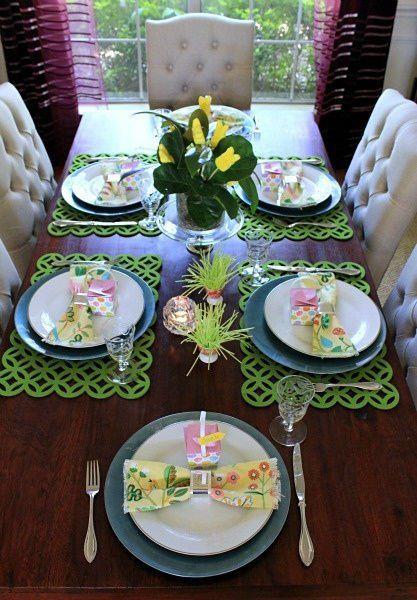 PHOTOS ONLY  45 Festive Easter Table Decoration Ideas