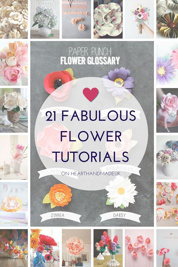 21 of my favourite flower tutorials! You can choose from paper flower tutorials, fabric flower tutorials, gigantic flowers and little paper posies! There are so many great flower projects out there and I had some trouble narrowing it down to 21!