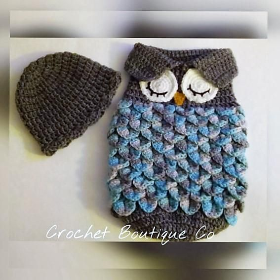 Looking for your next project? You're going to love Newborn Owl Sleep Sack and Cap by designer alvey.tina.