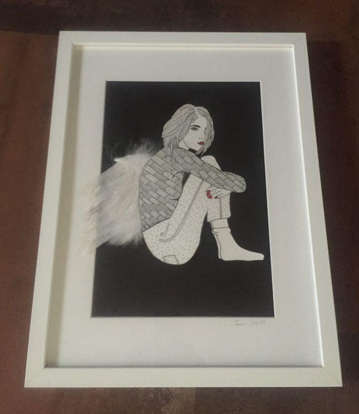 Paint / women / angel / wings