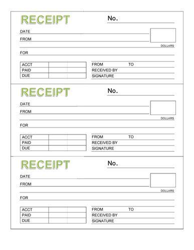 9 best images about rent receipt template on pinterest receipt