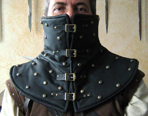 Medieval Leather Armor | Medieval Armor Leather Padded High Collar by ... | Weapons & Armor
