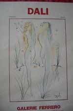 Dali Vintage Poster Galerie Ferrero Old Nude Pair