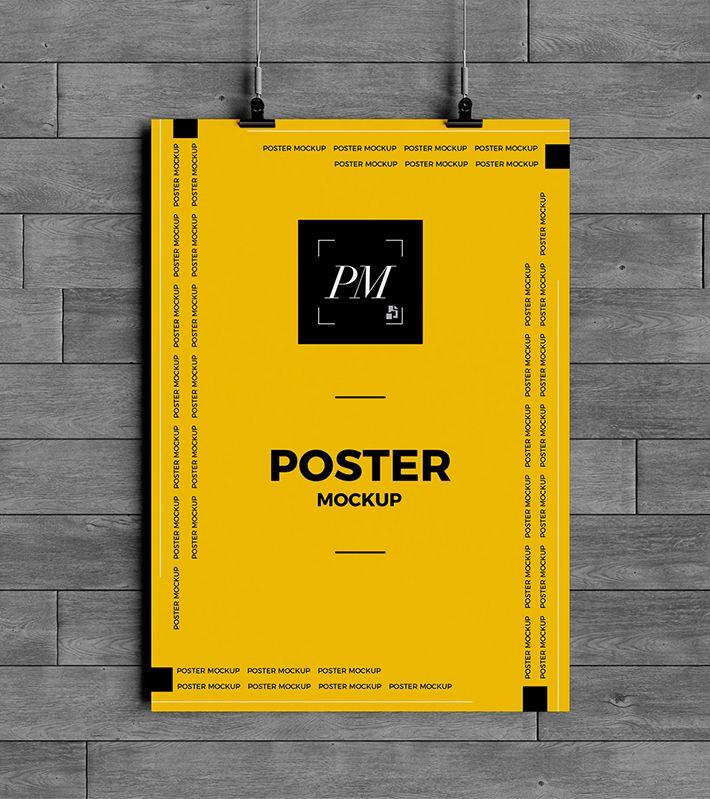 Elegant Hanging Poster Mockup Free Download Psd Freebies Poster Mockup Free Poster Mockup Poster Mockup Psd