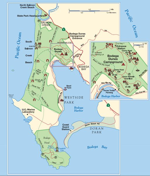 Bodega Bay Park Map